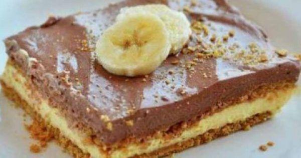 Ένα δροσερό, ανάλαφρο γλυκό ψυγείου με στρώσεις τραγανών μπισκότων, κρέμας βανίλιας και κρέμας σοκολάτας. Μια πολύ εύκολη και γρήγορη συνταγή για ένα υπέρο