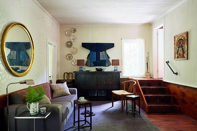 Designer, John Mahoney House Tour in Hudson, NY. andnorth.com