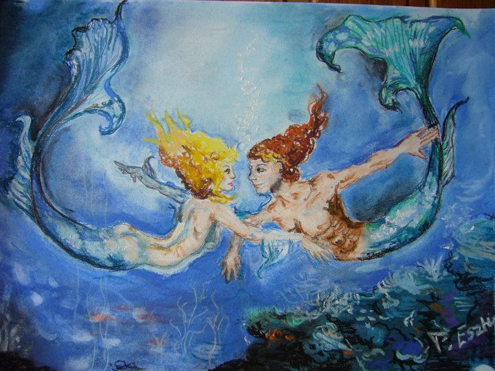 I painted it a few years ago; after a painting of the great artist, Boris Vallejo