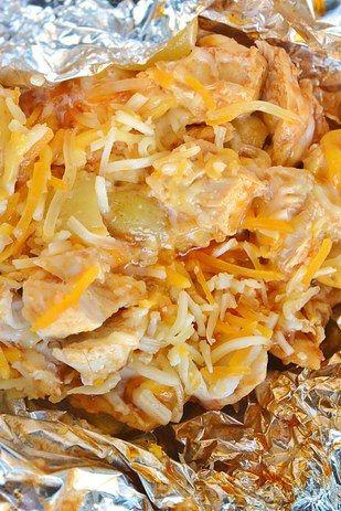 Sencilla barbacoa de pollo y papas | 21 Recetas con papel aluminio para un día de campo