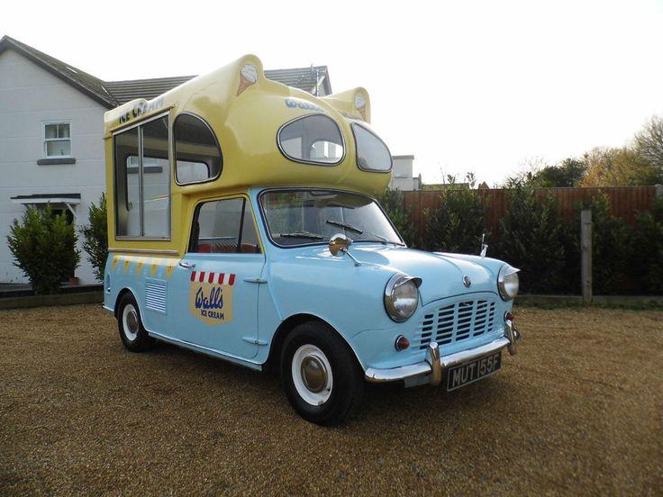 Austin/Morris Mini Walls ICE CREAM VAN 1967F 61k 2 seats blue/yellow | Cars, Motorcycles & Vehicles, Classic Cars, Austin | eBay!