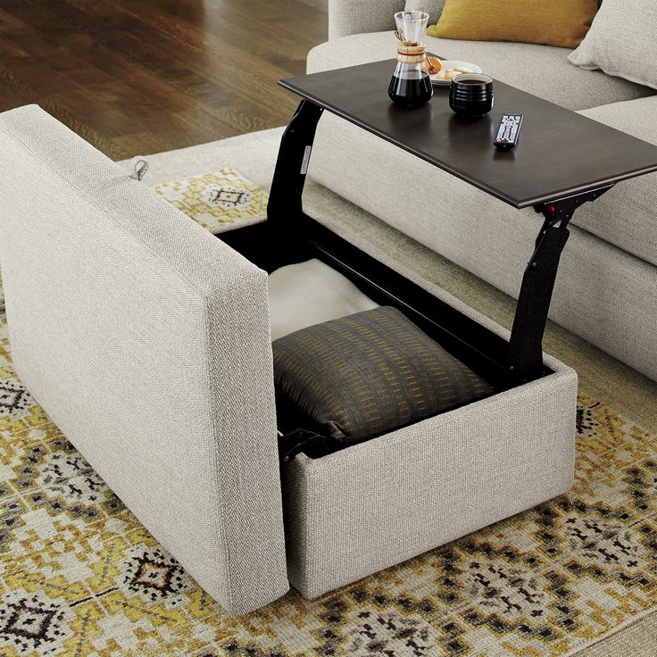 Lounge Ii Storage Ottoman With Tray In 2019 Living Rooms