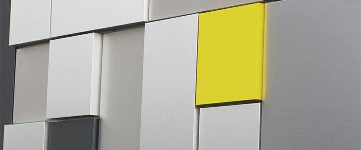 Rainscreen Systems Exterior Wall Cladding Aluminum Composite Panels Dry Design Reveal