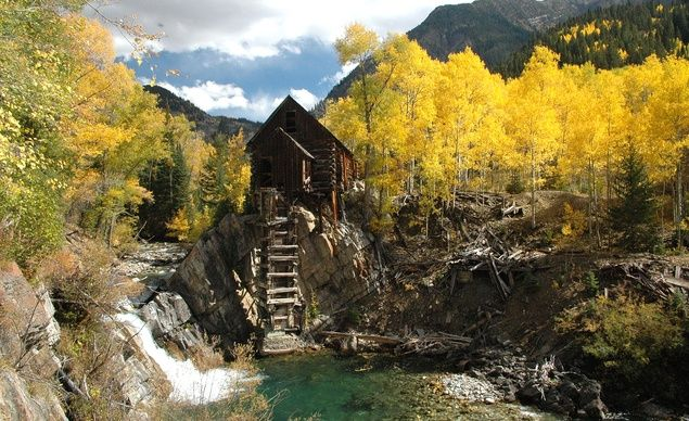the old crystal mill near marble, CO