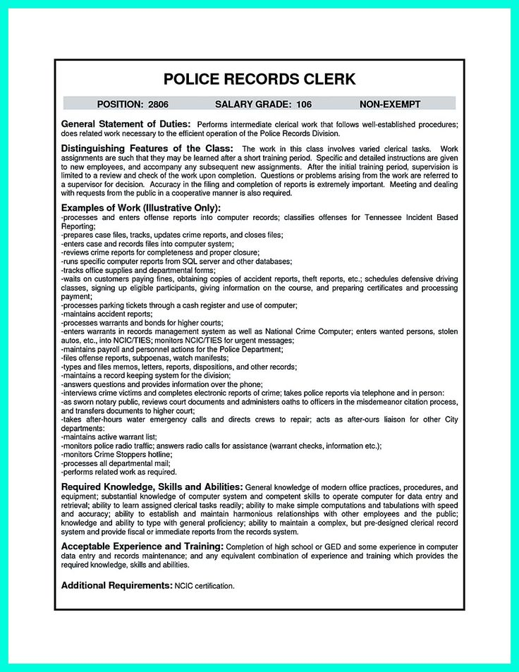 clerical resume examples previousnext previous image next image
