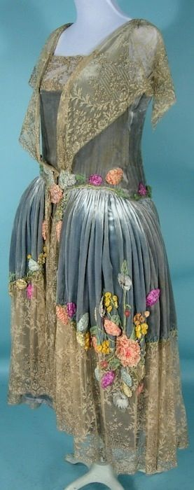 Antique Dress - Item for Sale. Antique and vintage embroidery ribbons