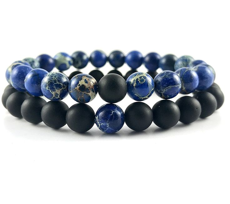 GOOD.designs Couple-Bracelet made of natural black agate-howlith Gemstone beads, his and hers yin-yang bracelet, Friendship partner-set *** Want to know more, click on the image. #Bracelets