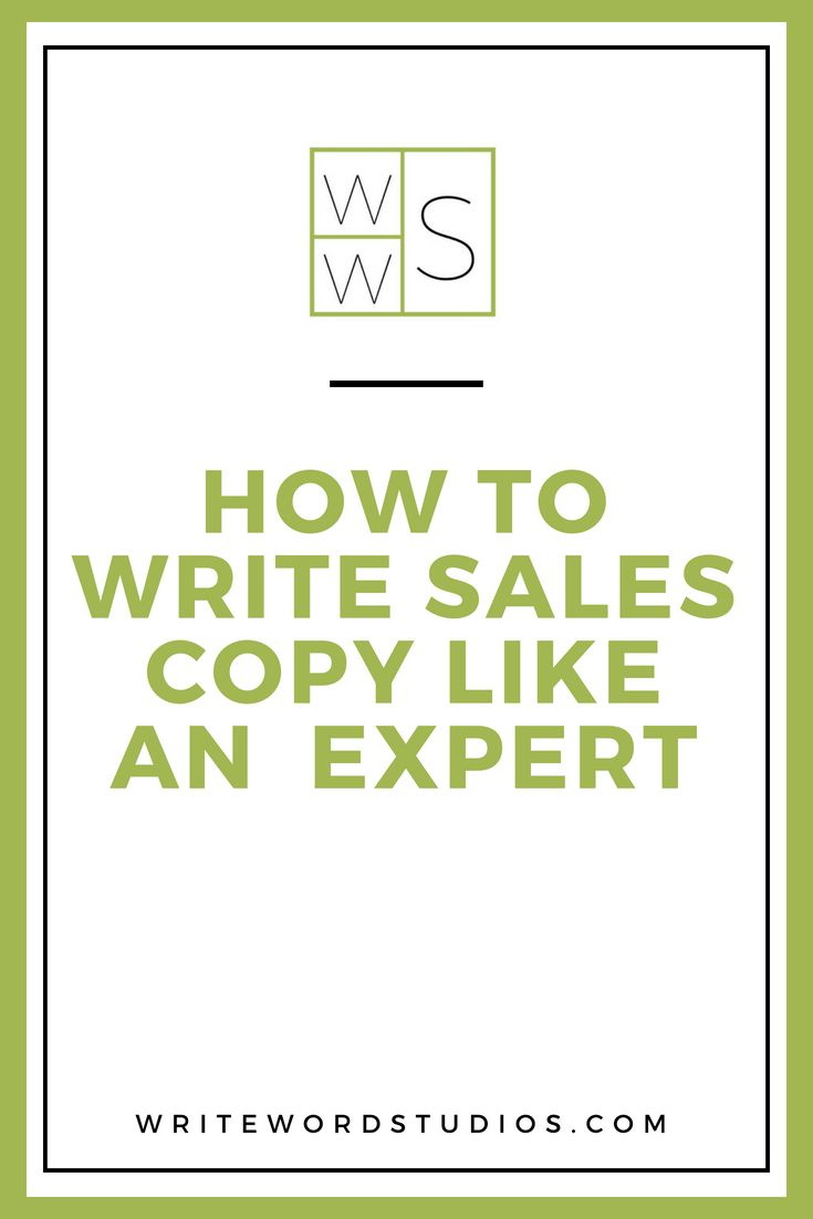 How To Write Sales Copy Like An Expert Write Word Studios