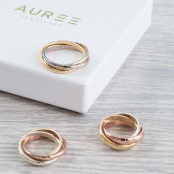 Personalised Walton 9ct Gold Russian Wedding Ring