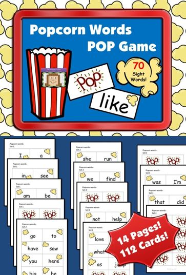 how to play popcorn sight word game