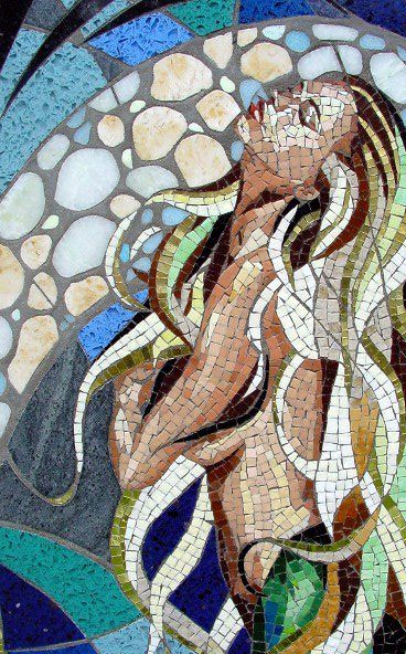 Mosaic mermaid for the bathroom