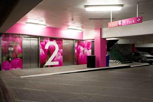 Town Pavilion Parking Garage Wayfinding By Julie Vinh Via