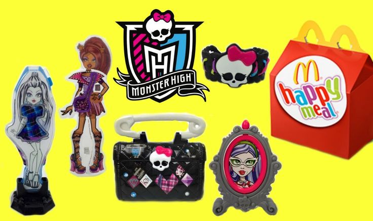 2015 Monster High Full Set McDonalds Happy Meal Kids Toys Review & Unboxing