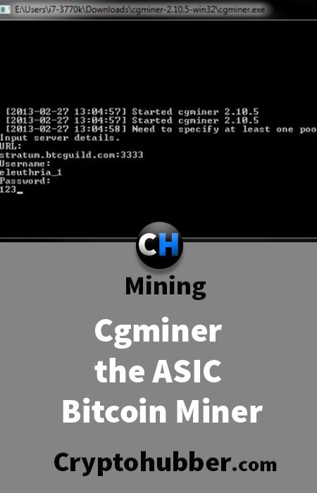 Cgminer the asic bitcoin miner #mining #tutorials #Ethereum #Bitcoin #cryptocurrency #Crypto #Blockchain #Software #market #cryptonite #Asic #Litecoin #Monero #Dash #hashrate #hash #rate #ICO #invest #investment #coins #profit #profitability
