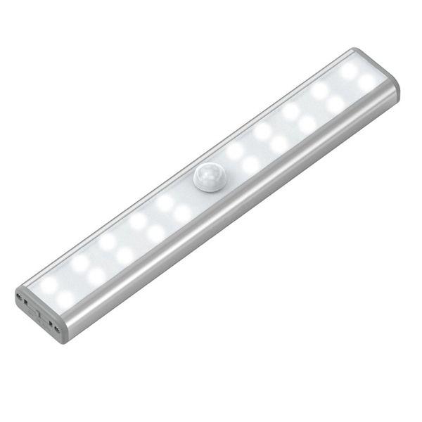 2w Wireless 20 Led Usb Rechargeable Led Pir Motion Sensor Night Light For Cabinet Close Sensor Night Lights Motion Sensing Light Motion Sensor Lights
