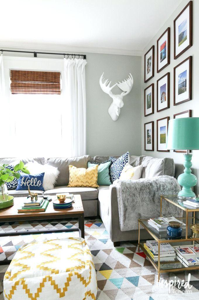 Graue Couch Welche Farbe Wande Wohnen Wohnzimmer Ideen Und