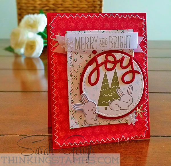 Seeing Red! Christmas is Coming... Sarah Gough www.thinkingstamps.com