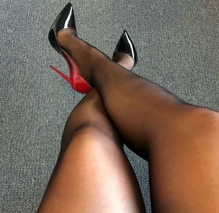 Thought differently, Sexy stockings and heels mine very
