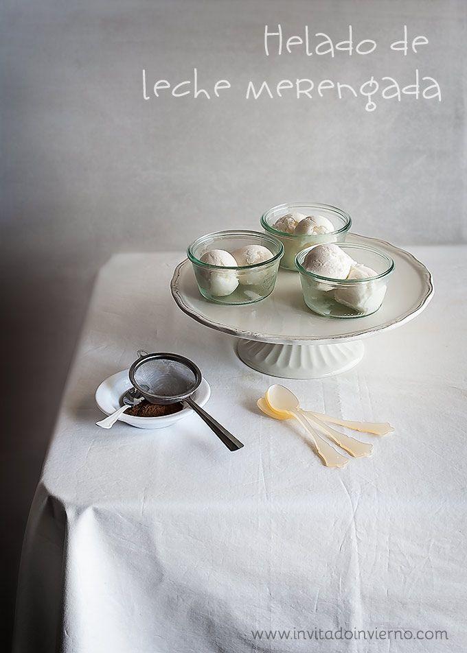 Receta tradicional de helado de leche merengada, con VÍDEO y fotografías paso a paso. La auténtica de Madrid!
