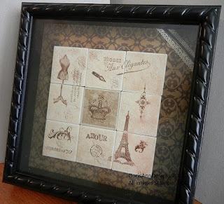 Artistic Etchings & Established Elegance shadowbox. Thanks Doris Ann!