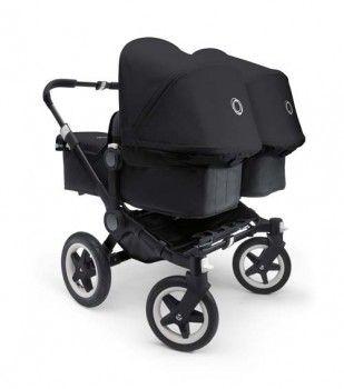 Bugaboo Donkey Twin Black Chassis - black/black