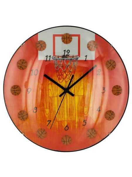 OC675-Bulk Buys OC675 Basketball Wall Clock Buy It In Bulk - Bringing the Warehouse Club experience straight to your door