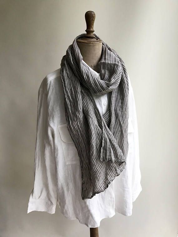 8e6b8a3776d This is a lovely light, gauze linen scarf made from 100% pure linen ...