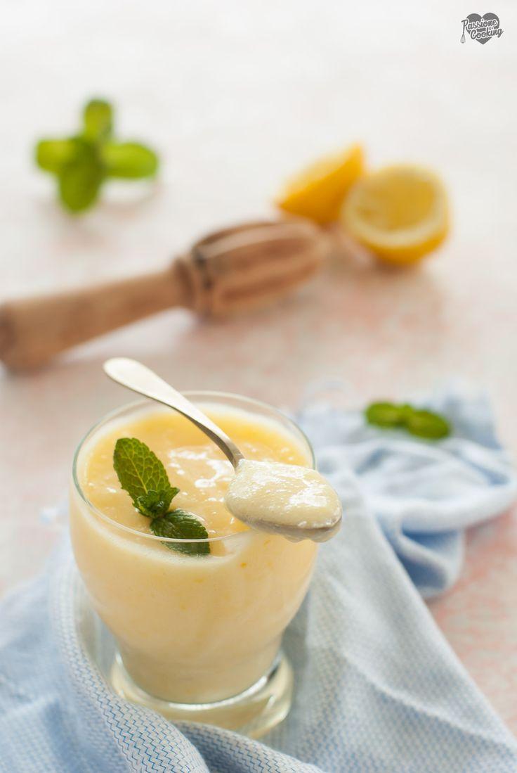 Crema di limone senza panna Leichte Zitronencreme ohne Butter und ohne Sahne