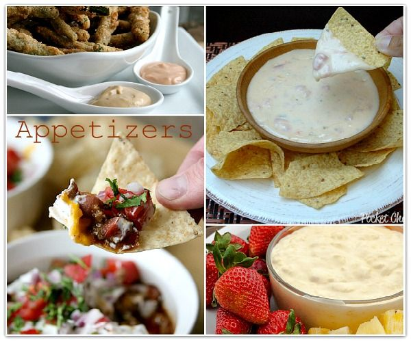 Party food appetizers to please everyone.