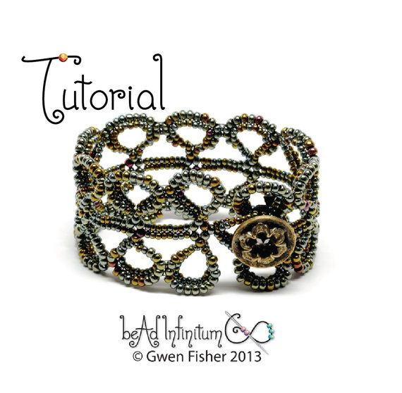 TUTORIAL Eucalyptus Leaves Beaded Bracelet Part 5 of the Beaded Lace Adventure