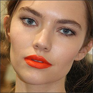 Latest Eye Makeup Trends 2014 | Spring makeup trend,bright orange lips look beautiful in this season.