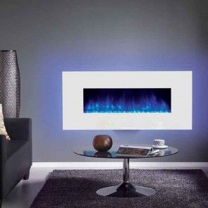 Gazco Radiance 150W White Glass Electric Wall Mounted Fire