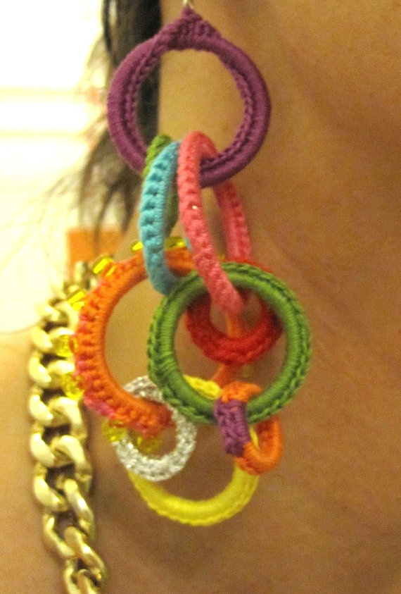 Crochet earrings; there's something about these that I just love.
