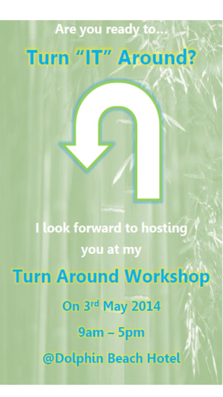 We have 10 people booked for our #TurnAroundWorkshhop on the 3rd of May #DolphinBeachHotel. The process allows for 16 to attend. #BookNow! Email robyn@wordonthestreetmedia.co.za for more information and booking details. http://www.michellevooght.com/events/8-turn-around-workshop/event_details.html