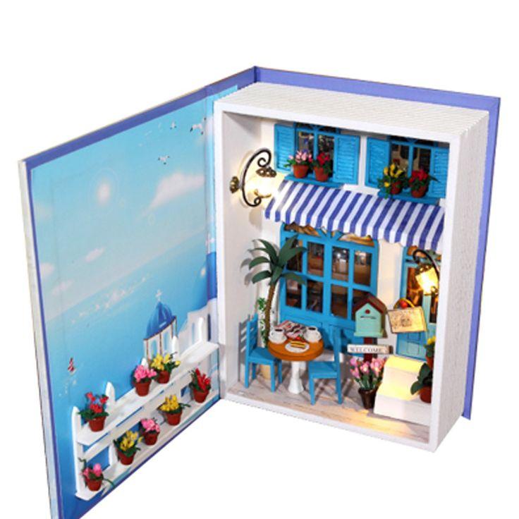 Regalo di natale fai da te dollhouse mini libri fatti a mano corredi di costruzione di modello casa di bambola giocattolo di compleanno in              Formato:             Dimensioni finali: circa 20*15*5 cm           Formato dell&#39da Corredi di costruzione di modello su AliExpress.com | Gruppo Alibaba