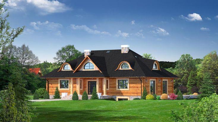http://aledomydrewniane.pl/projekty,domow,48,Chmielniki drewniane 19 - Dom z płazów drewnianych, z poddaszem użytkowym, podpiwniczony.html