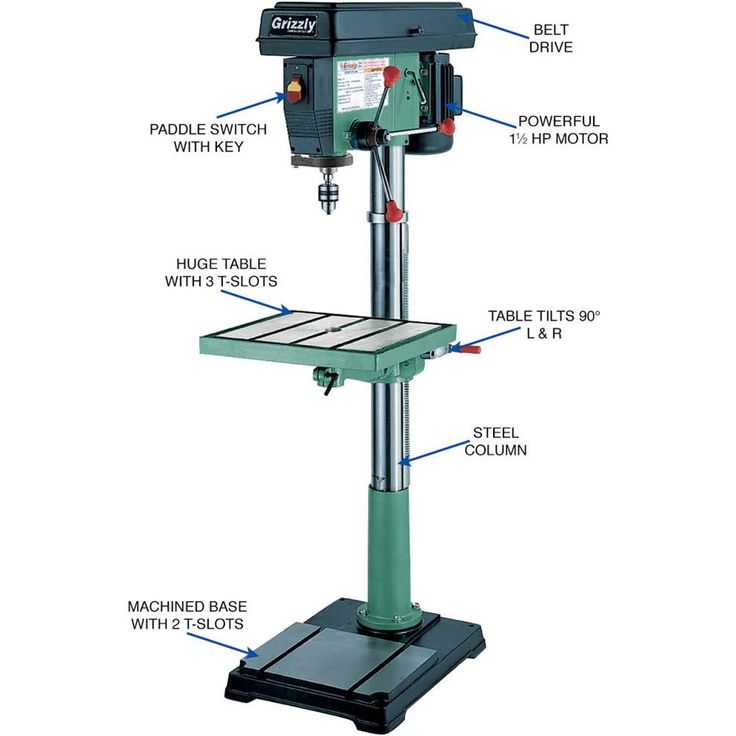 """12 Speed 20"""" Floor Drill Press 