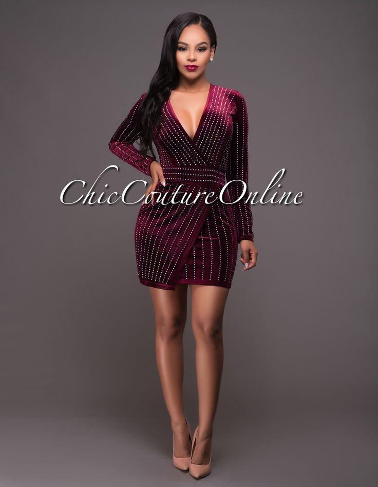 Chic Couture Online - Amandi Plum Iridescent Stones Velvet Mini Dress.(http://www.chiccoutureonline.com/amandi-plum-iridescent-stones-velvet-mini-dress/)