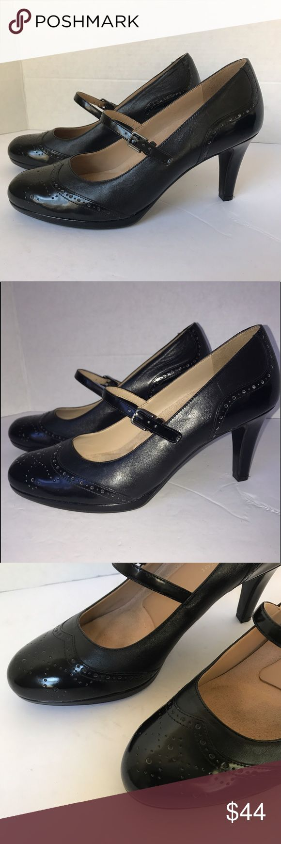 Naturalizer black Mary Janes shoes heels sz 9.5 W Naturalizer black Mary Janes shoes heels sz 9.5 W in excellent condition/ feel free to ask questions Naturalizer Shoes Heels