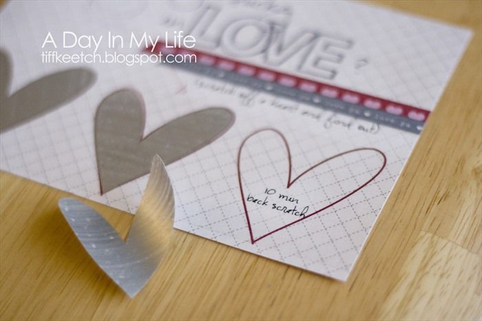 How To Make Your Own Scratch Amp Win Valentine Card