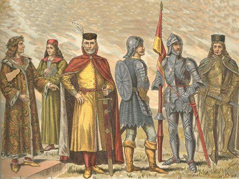 XIV. TÁBLA. Magyar viselet a XV. században. | Magyar viseletek története | Arcanum
