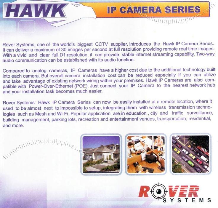 Hawk Rover Systems IP Internet Protocol CCTV Security Camera Wifi Surveillance