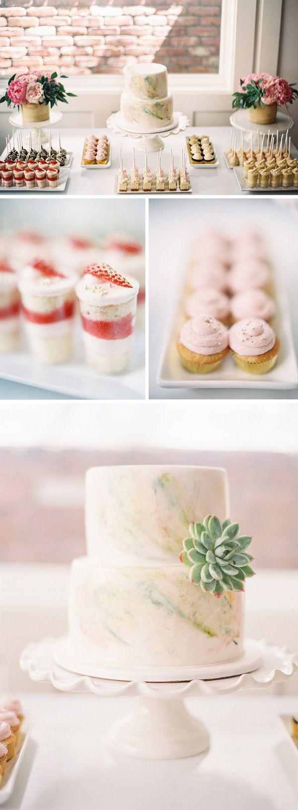 watercolor cake & mini-desserts :) // Braedon's Blog