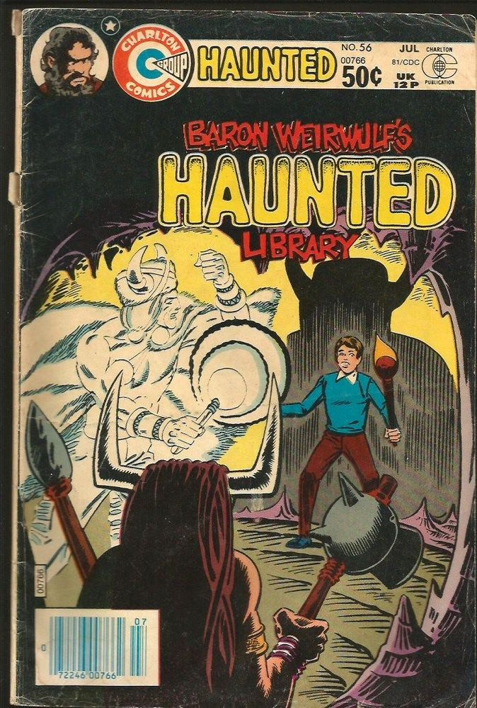 Baron Weirwulf's HAUNTED LIBRARY #56 Charlton Comics 1981 looks VG Steve Ditko