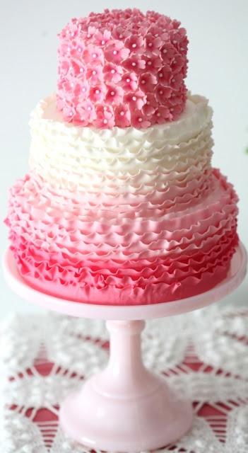 Indian Weddings Inspirations. Pink Wedding Cake. Repinned by #indianweddingsmag…