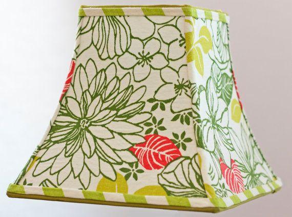 Handmade Floral Green Lamp Shade  High Quality by elledaniel