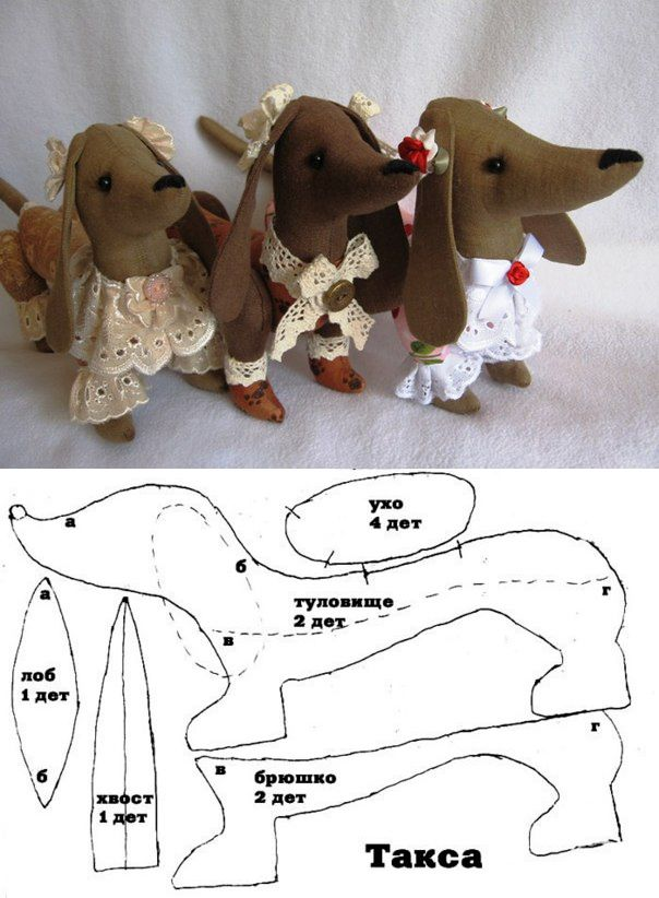 How to sew dachshund toy, pattern