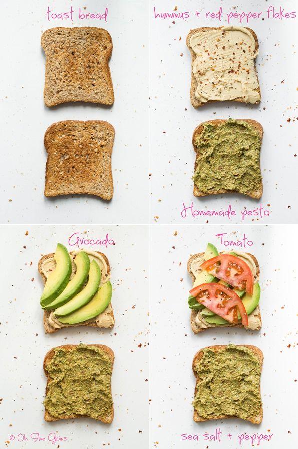 4 layer vegan sandwich