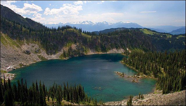 Miller Lake from up on the Jade Lake trail, BC - Mt. Revelstoke #Revelstoke