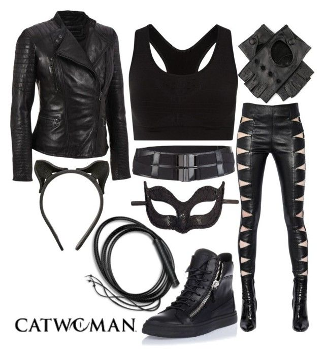 """""""Urban Catwoman"""" by aubrielleoutfits ❤ liked on Polyvore featuring Andrew Marc, Rogues Gallery, Fleet Ilya, Yves Saint Laurent, Masquerade, Giuseppe Zanotti and Smartwool"""